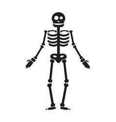 Happy Halloween skeleton vector image