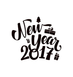 Happy New Year Calligraphy vector