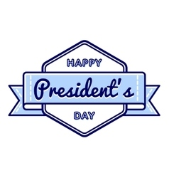 Happy Presidents day greeting emblem vector