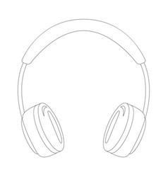 headphones lining draw vector image