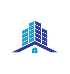 home building cityscape logo image vector image