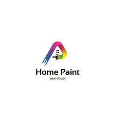 home paint logo vector image