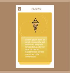 Ice cream mobile vertical banner design design vector