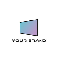 Imple minimalist modern flat smart led lcd tv vector