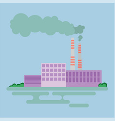 industrial factory buildings icon vector image