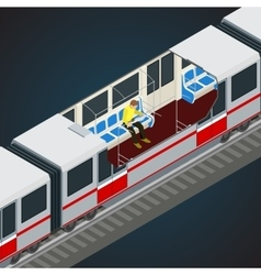 Interior view of a subway car Train Subway vector image