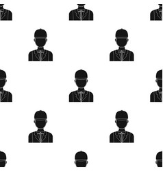 Jockey icon in black style isolated on white vector