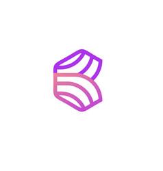 line b letter logo template design v vector image