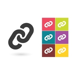Link icon or chain pictogram vector