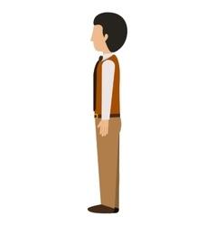 Man standing left profile blazer with tie vector