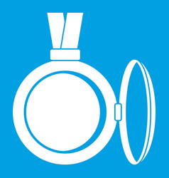 Medallion icon white vector