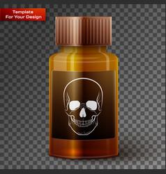 medicine bottle with poisonous liquid vector image