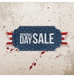 Memorial Day Sale realistic Label and Ribbon vector image