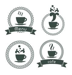 menu label set vector image