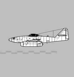 messerschmitt me 262a-1 schwalbe vector image