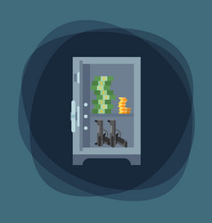 Money safe steel vault door finance business vector