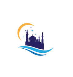 mosque design vector image