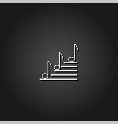 music notes icon flat vector image