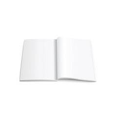 opened vertical magazine brochure or notebook vector image