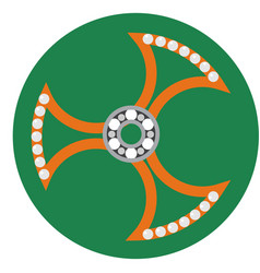 Orange spinner with transparent center vector