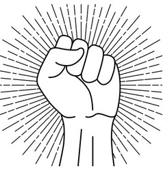 Protest symbol power sign vector
