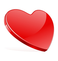 red shiny heart shape vector image