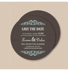 round save the date card vector image