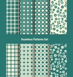 seamless patterns set in oriental style vector image