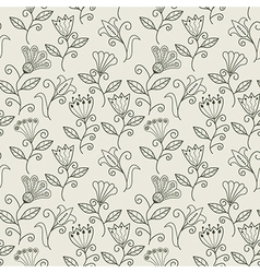 Seamless texture with flowers Endless floral vector image
