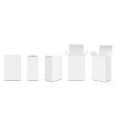 set paper rectangular packaging boxes vector image