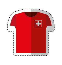 Shirt uniform switzerland team vector