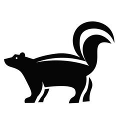 Skunk icon vector