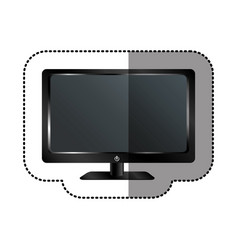smart tv modern technology vector image