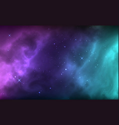 space background with shining stars nebula vector image
