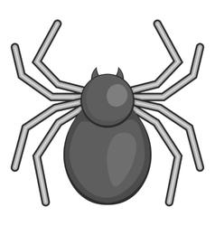 Spider icon gray monochrome style vector