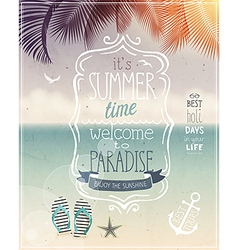 Summer time poster vector