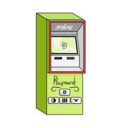 Terminal for various types of payment terminals vector