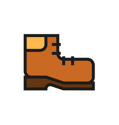 travel shoe icon on white background vector image