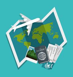 Traveling around world icon vector