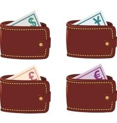 Wallet full curancy vector