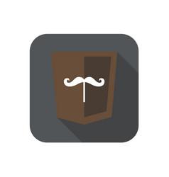 web development shield sign isolated mustache icon vector image