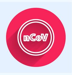 white line corona virus 2019-ncov icon isolated vector image