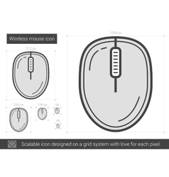 Wireless mouse line icon vector