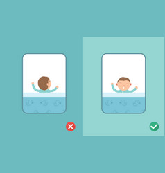 best and worst sleeping positions vector image