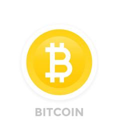 bitcoin icon vector image