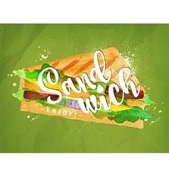 Burger sandwich green vector image vector image