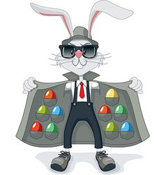 Funny Rabbit with Contraband Easter Eggs Cartoon vector image