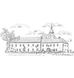 old palace vector image