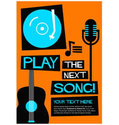 play the next song vector image
