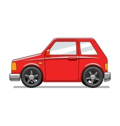 Red toy car vector image vector image